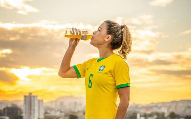Tamires, do Corinthians, será embaixadora global de marca de isotônicos (Foto: Vitor Milanez/Divulgação)