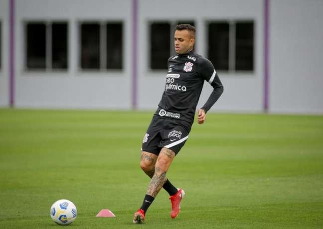 Luan trabalhou de forma separada com o preparador físico do Corinthians (Foto: Rodrigo Coca/Agência Corinthians)