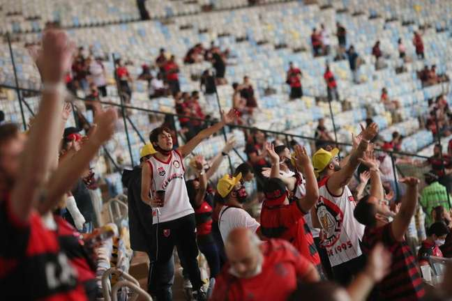 Torcedores do Flamengo durante partida no Maracanã 15/09/2021 REUTERS/Ricardo Moraes
