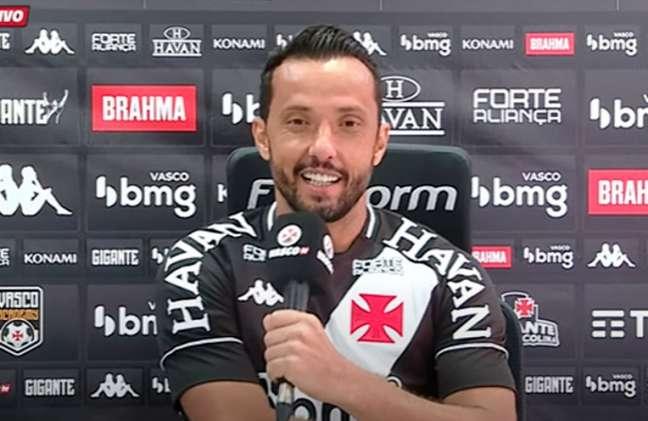 Nene foi apresentado no Vasco e poderá fazer a sua estreia com a camisa cruz-maltina (Foto: Reprodução/Youtube)