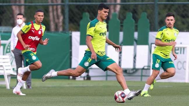 Danilo segue fora de treinamento na Academia de Futebol (Foto: Cesar Greco/Palmeiras)