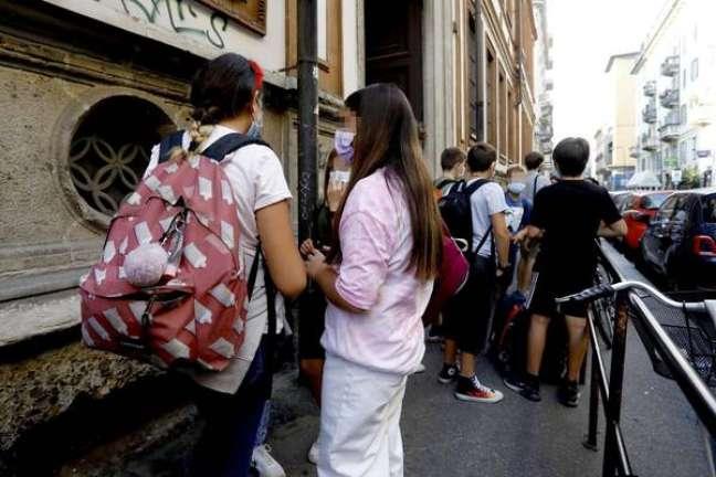 Movimentação em Milão na volta às aulas para o ano letivo 2021/22