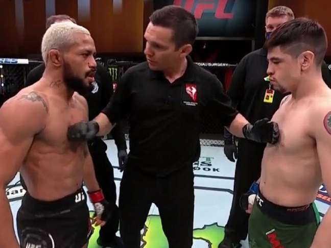 Trilogia entre Deiveson Figueiredo e Moreno vai acontecer no UFC 269, em dezembro (Foto: Reprodução/UFC)