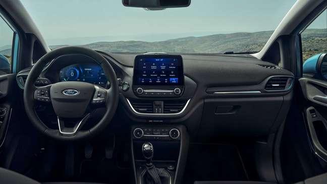Ford Fiesta: painel digital de 12,3''.