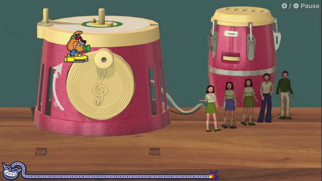 Um dos minigames de WarioWare: Get it Together