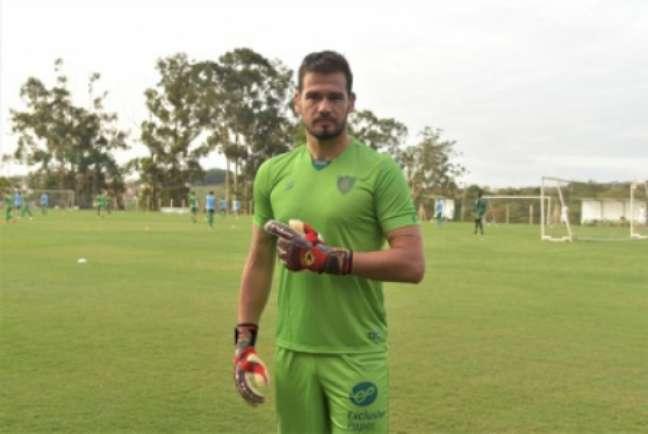 Cavichioli celebrou também as boas atuações do Coelho nos últimos jogos no Brasileiro-(Mourão Panda/América-MG)