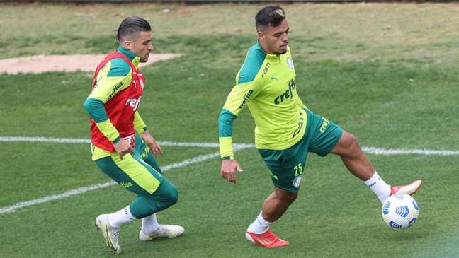 Gabriel Menino em ação pelo Palmeiras (Foto: Cesar Greco/Palmeiras)