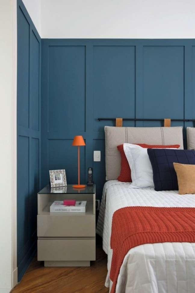 13. Almofada de cabeceira no quarto moderno – Foto Casa e Jardim