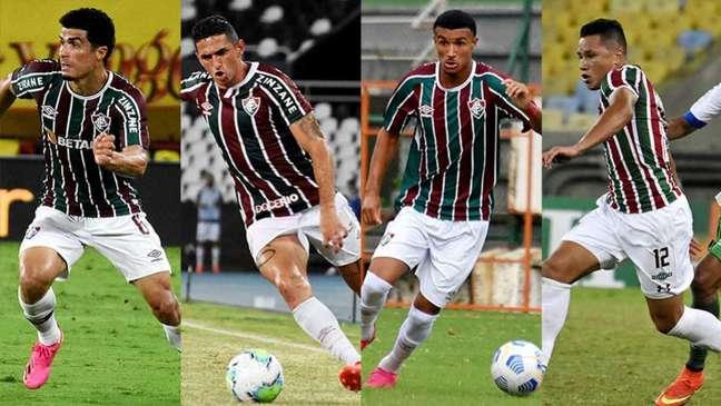 Além de Egídio e Danilo Barcelos, Fluminense pode contar com mais dois laterais-esquerdos (Montagem LANCE!)