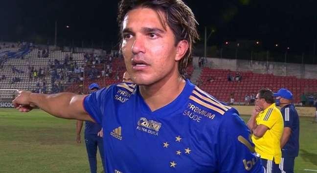 Marcelo Moreno desabafou após o empate do Cruzeiro com o Operário-PR (Foto: Reprodução/Premiere)