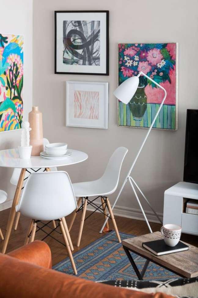5. Conjunto de mesa eiffel na sala de jantar moderna – Foto Top Chais