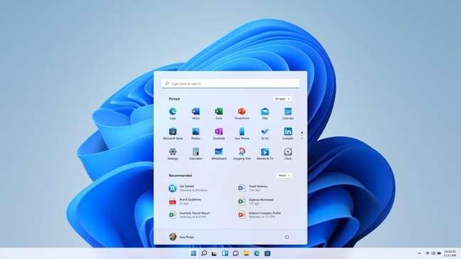 Menu Iniciar e barra de tarefas do Windows 11