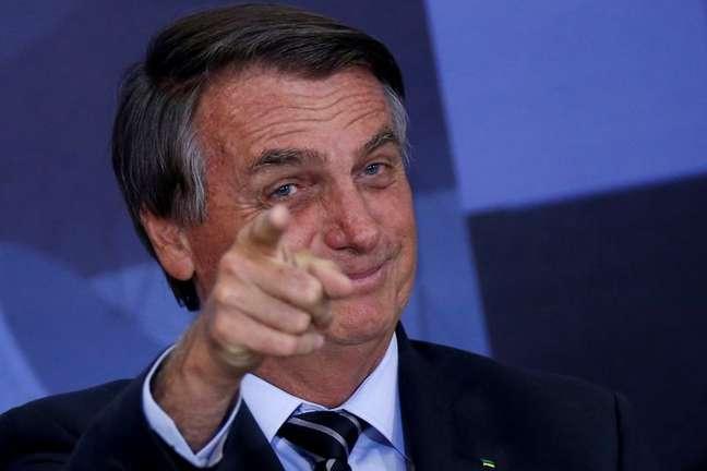 Presidente Jair Bolsonaro durante cerimônia no Palácio do Planalto 14/09/2021 REUTERS/Adriano Machado