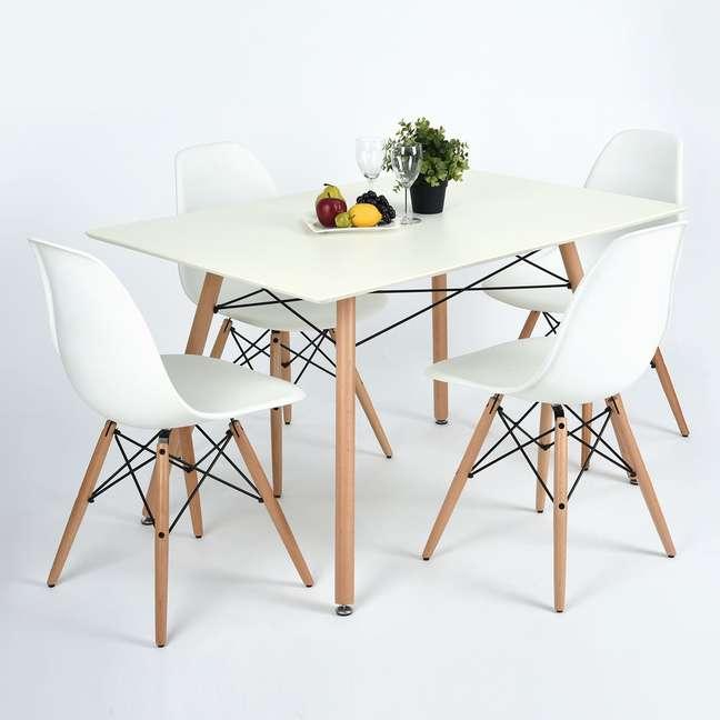 34. Mesa eiffel retangular para sala de jantar estilo retro – Foto Homedepot