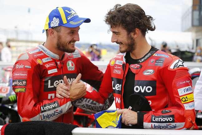 Jack Miller e Francesco Bagnaia fazem o primeiro ano juntos na Ducati