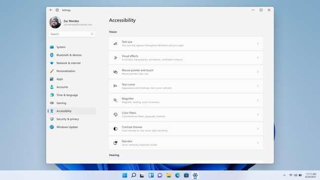 Recursos de acessibilidade do Windows 11