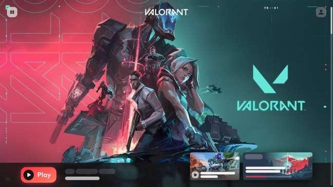 Riot Client com interface de Valorant