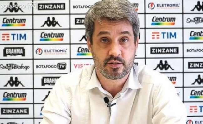 Eduardo Freeland é diretor de futebol (Reprodução / BotafogoTV)