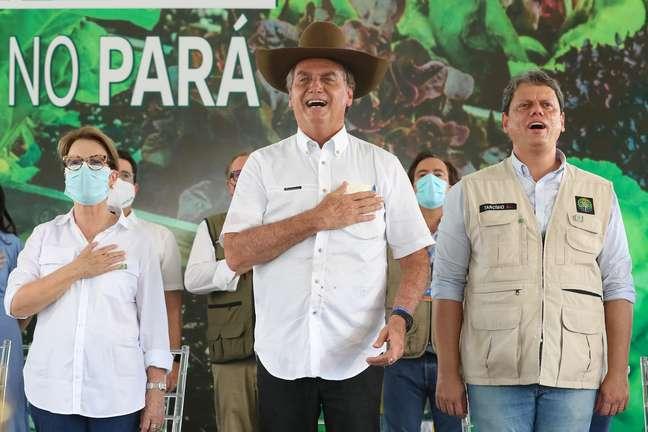 Presidente Jair Bolsonaro durante Entrega de Títulos de Propriedade Rural