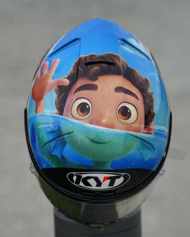 Aleix Espargaró usou o filme Luca para estampar o capacete de Misano
