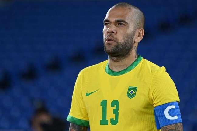 Daniel Alves foi o capitão da Seleção Brasileira nos Jogos Olímpicos de Tóquio (Foto: Daniel Leal-Olivas/AFP)