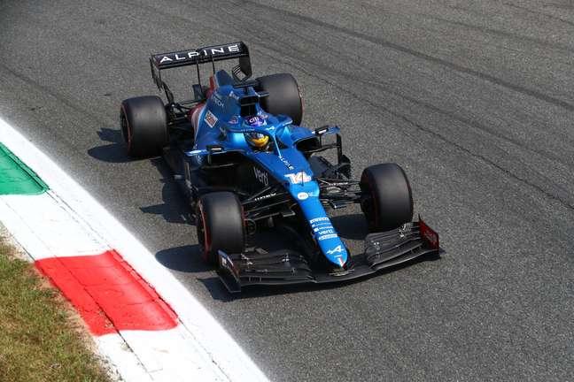Fernando Alonso terminou em 8º em Monza