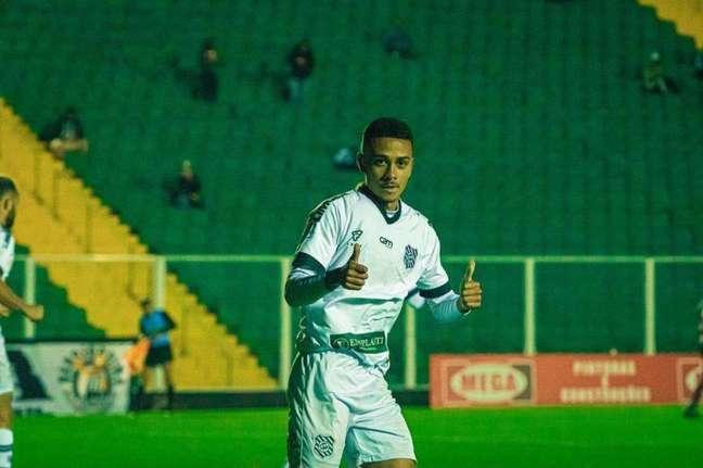 Paolo garantiu a vitória do Figueirense (Foto: Patrick Floriani/FFC)