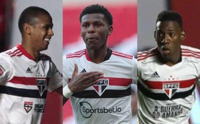 Bruno Alves, Arboleda e Léo são opções para a zaga são-paulina (Fotos: Rubens Chiri/saopaulofc.net)