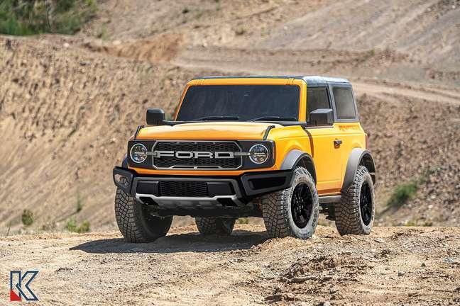 Projeção do Ford Bronco Raptor.