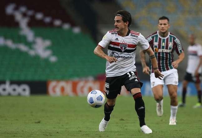 Gabriel falou sobre a oportunidade de jogar pela primeira vez no Morumbi (Foto: Rubens Chiri/saopaulofc.net)