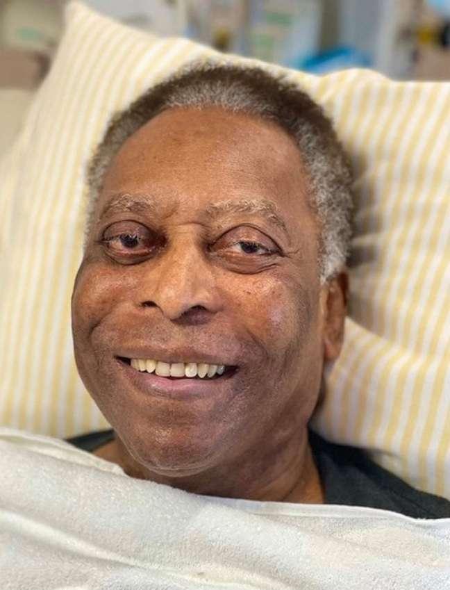 Pelé segue em observação no Hospital Albert Eintein (Foto: Redes sociais)