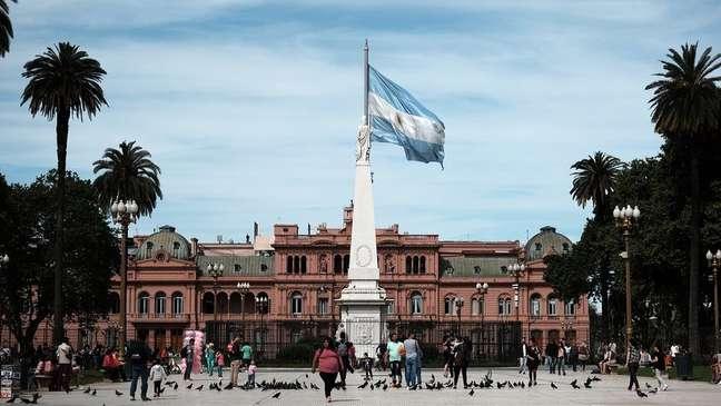A Casa Rosada, em Buenos Aires; Argentina tem dados preocupantes nas áreas social e econômica