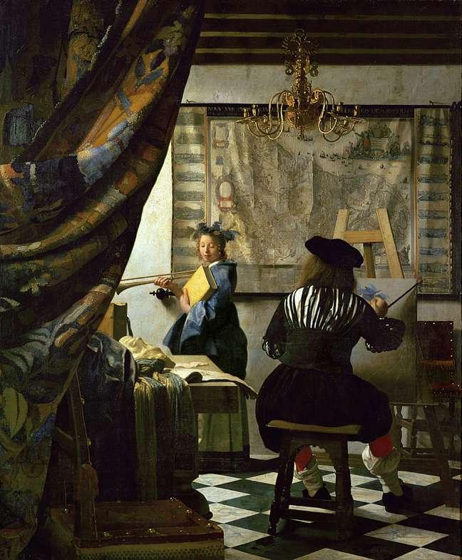 Será ele? Especialistas acreditam que Vermeer talvez tenha feito seu autorretrato de costas em 'A Arte da Pintura'