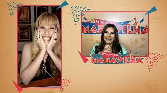 Mara e Mariane conversaram sobre vida e carreira na primeira edição do 'Programa da Maravilha'