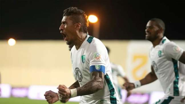 Em quatro jogos pelo Al Ahly, Paulinho marcou dois gols (Foto: Twitter/Al Ahly)