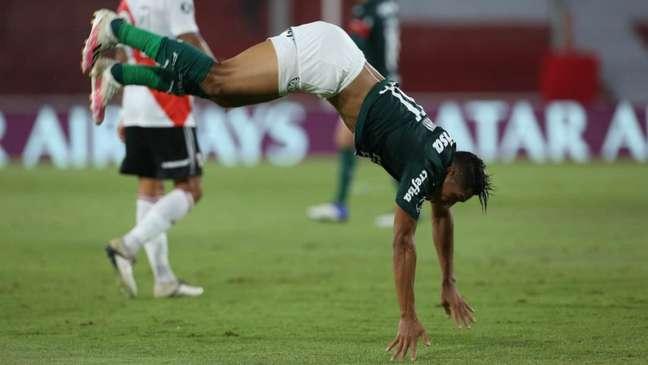 Rony chegou a cinco gols na Libertadores com a camisa do Palmeiras (Foto: Cesar Greco/ Palmeiras)