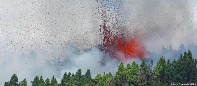 Erupção de vulcão em La Palma, nas Ilhas Canárias