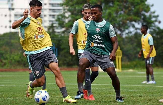 Martinelli tende a ser o titular de Marcão no confronto de logo mais, contra o Cuiabá (Foto: MAILSON SANTANA/FLUMINENSE FC)