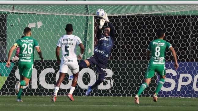 Chape não conseguiu furar a zaga do Palmeiras (Cesar Greco / Palmeiras)