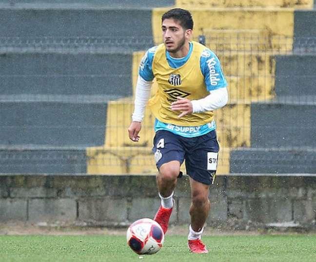 Matías Lacava vai estrear pelo Santos nesta terça-feira (Foto: Pedro Ernesto Guerra Azevedo/Santos FC)