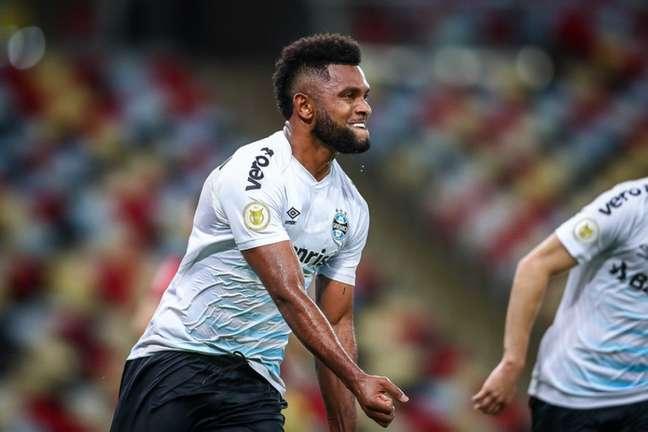 Borja anotou o único gol do jogo contra o Fla (FOTO: LUCAS UEBEL/GREMIO FBPA)