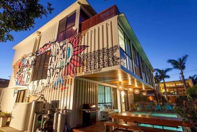 1. Projeto moderno de construção com containers – Foto: Minha Casa Container