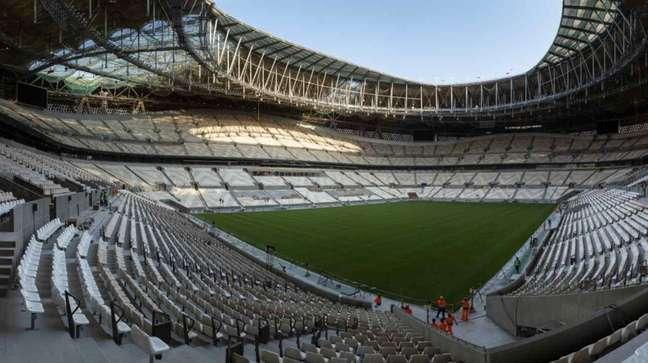 Estádio Lusail está perto de ter suas obras finalizadas (Foto: Divulgação)