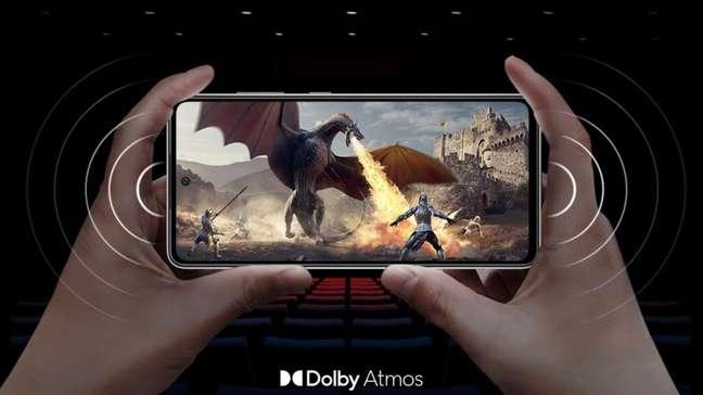 Galaxy A52s 5G possui Dolby Atmos