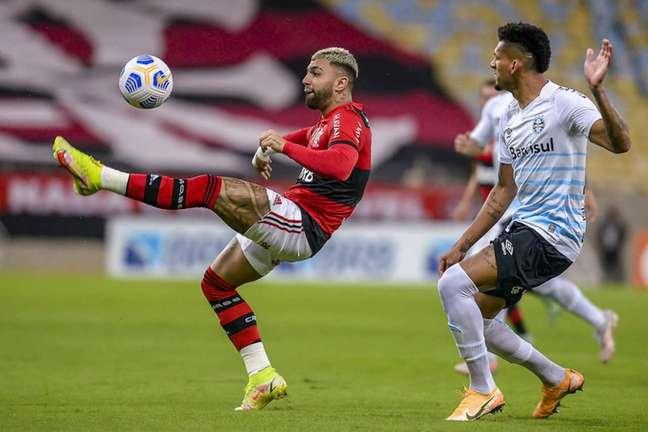 Gabigol foi um dos atletas que teve atuação apagada diante do Grêmio (Foto: Marcelo Cortes/Flamengo)