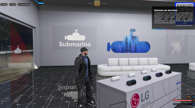 Submarino é uma das empresas que está oficialmente no Cidade Alta