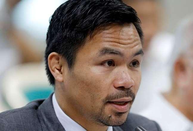 Lendário boxeador filipino e atual senador Manny Pacquiao  02/05/2017 REUTERS/Erik De Castro