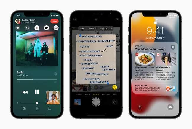 iOS 15 traz compartilhamento de vídeo e áudios no FaceTime, conversão de imagem em texto legível e novas notificações