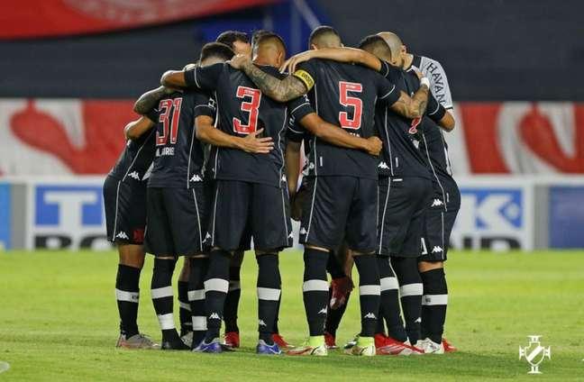 Equipe do Vasco se preparando para a partida (Foto: Rafael Ribeiro/Vasco)