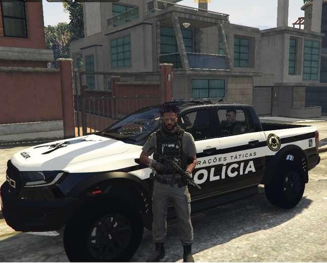 Aaron Boseman em operação no Cidade Alta